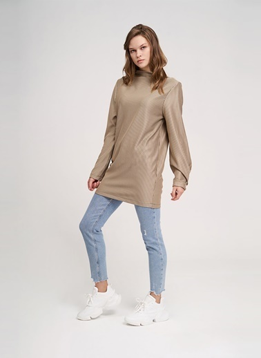 Mizalle Youth Sweatshirt Bej